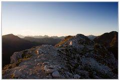 Sonnenaufgang am Weißhorn morgens um 07:00 Uhr
