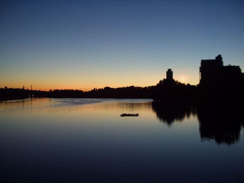 Sonnenaufgang am Wöhrder See