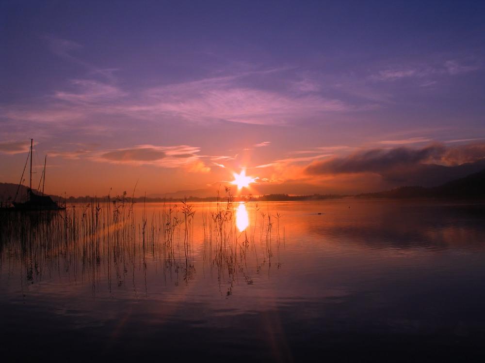 Sonnenaufgang am Wörthersee