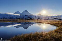 Sonnenaufgang an den Vulkanen