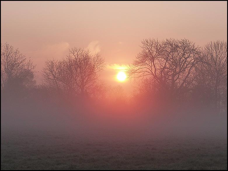Sonnenaufgang an der Ahse