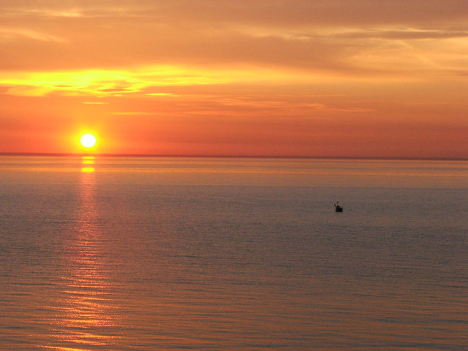 Sonnenaufgang an der Kieler Förde