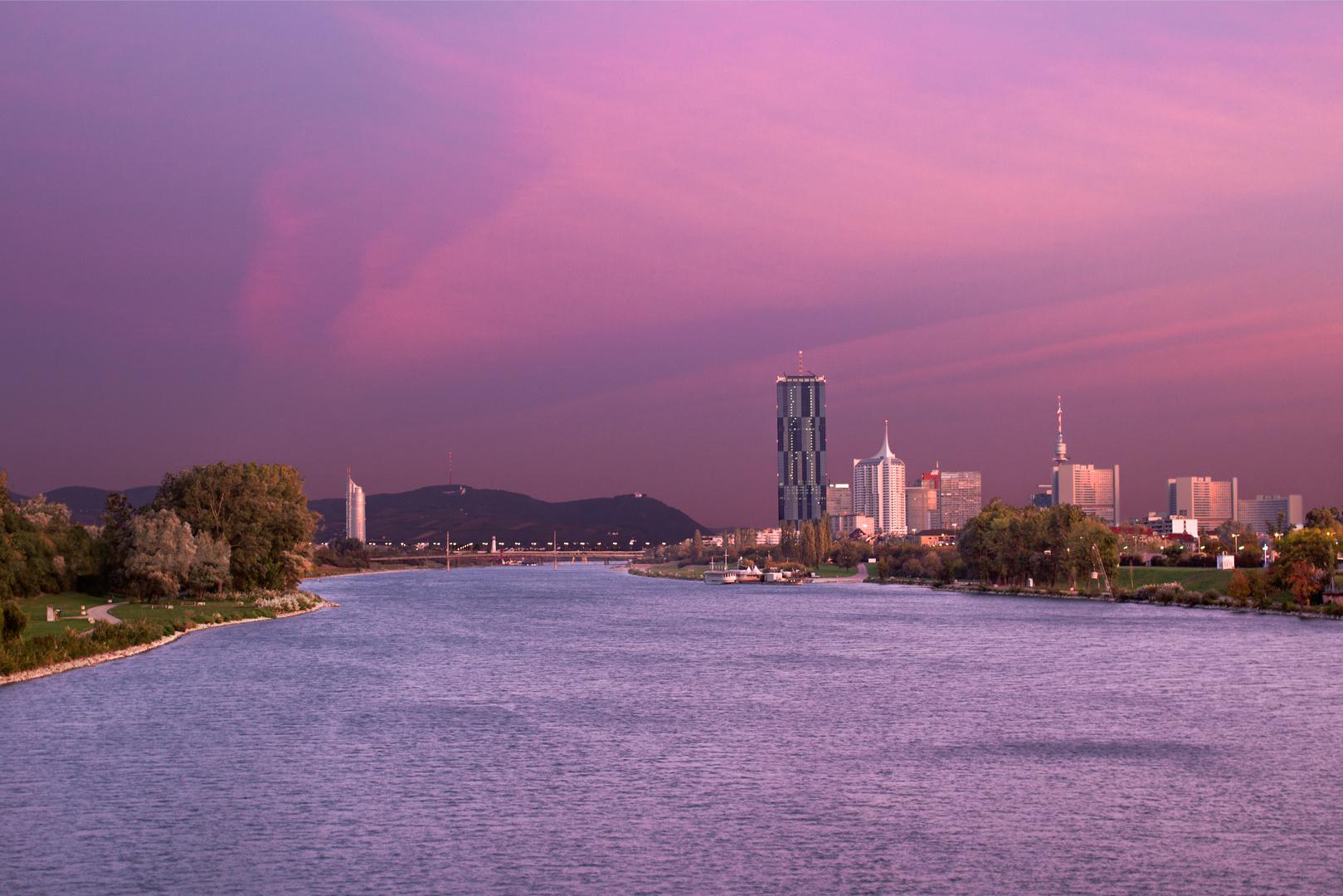 Sonnenaufgang an der Neuen Donau
