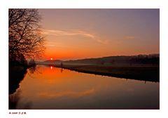 *Sonnenaufgang an der Ruhr*
