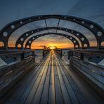 Sonnenaufgang an der Seebrücke von Kellenhusen