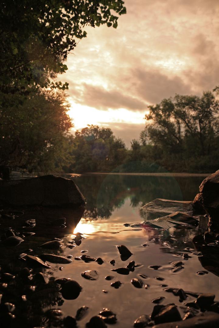 Sonnenaufgang an der Sieg