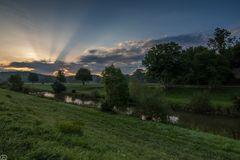 Sonnenaufgang an der Wutach in Lauchringen