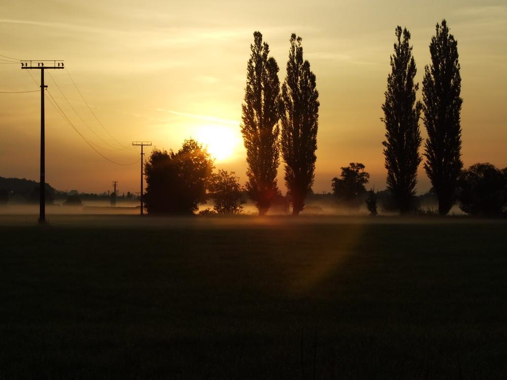 Sonnenaufgang an der Zenn bei Raindorf - Langenzenn