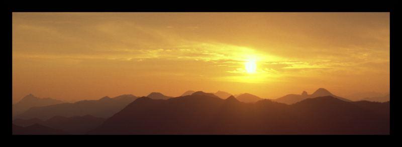 Sonnenaufgang auf dem Brauneck