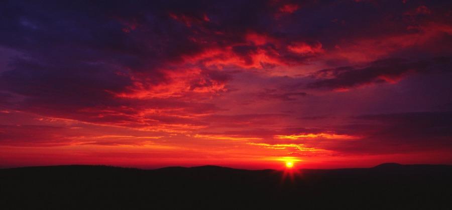 Sonnenaufgang auf dem Lusen