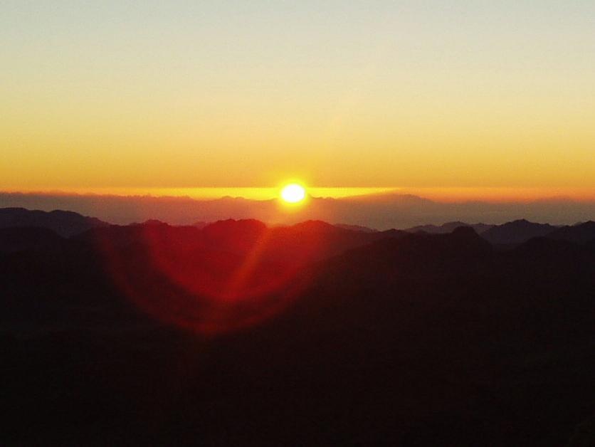 Sonnenaufgang auf dem Mosesberg