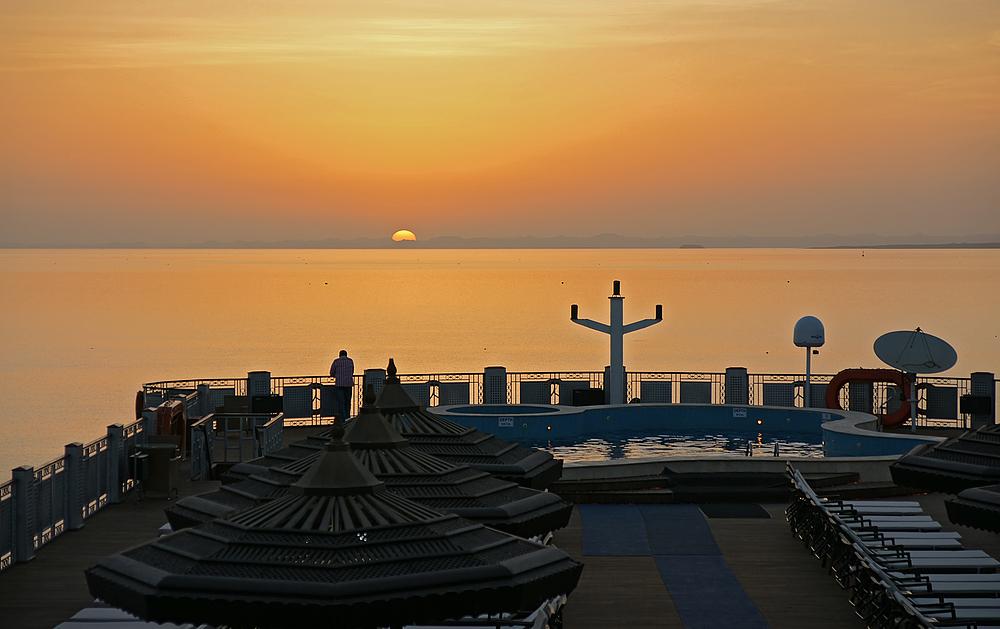 Sonnenaufgang auf dem Nassersee
