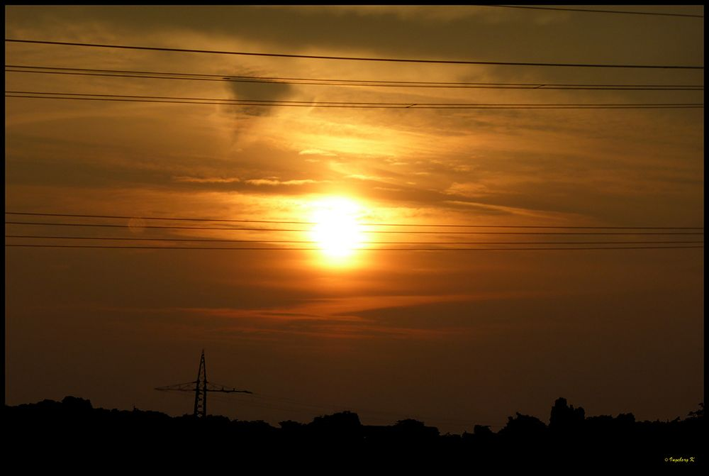 Sonnenaufgang auf der Fahrt nach Italien