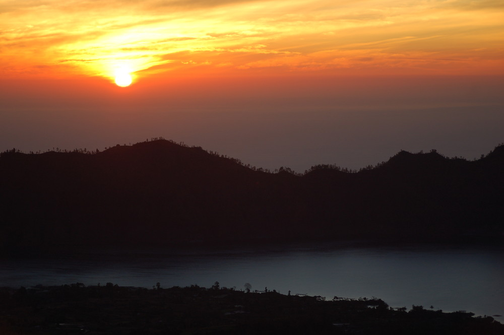 Sonnenaufgang auf Mount Batur