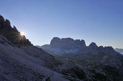 Sonnenaufgang bei den Drei Zinnen und solche schönen Strahlen...