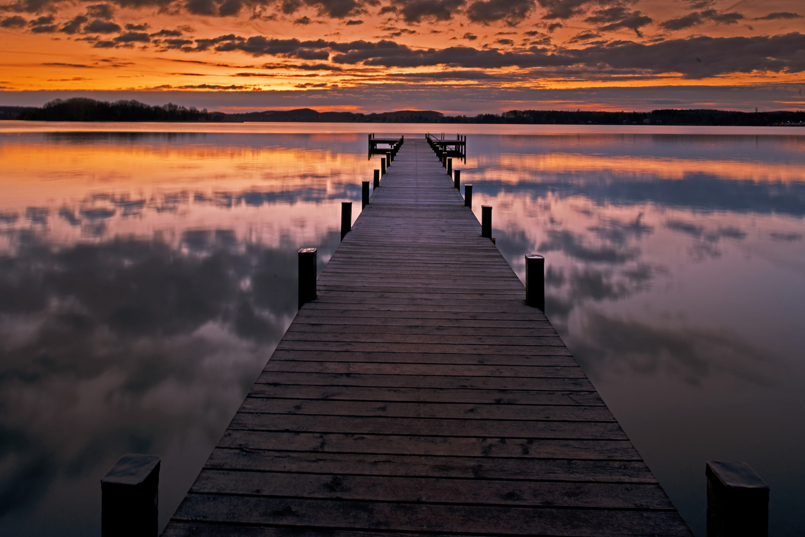 Sonnenaufgang beim Wörthsee