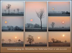 Sonnenaufgang... Collage