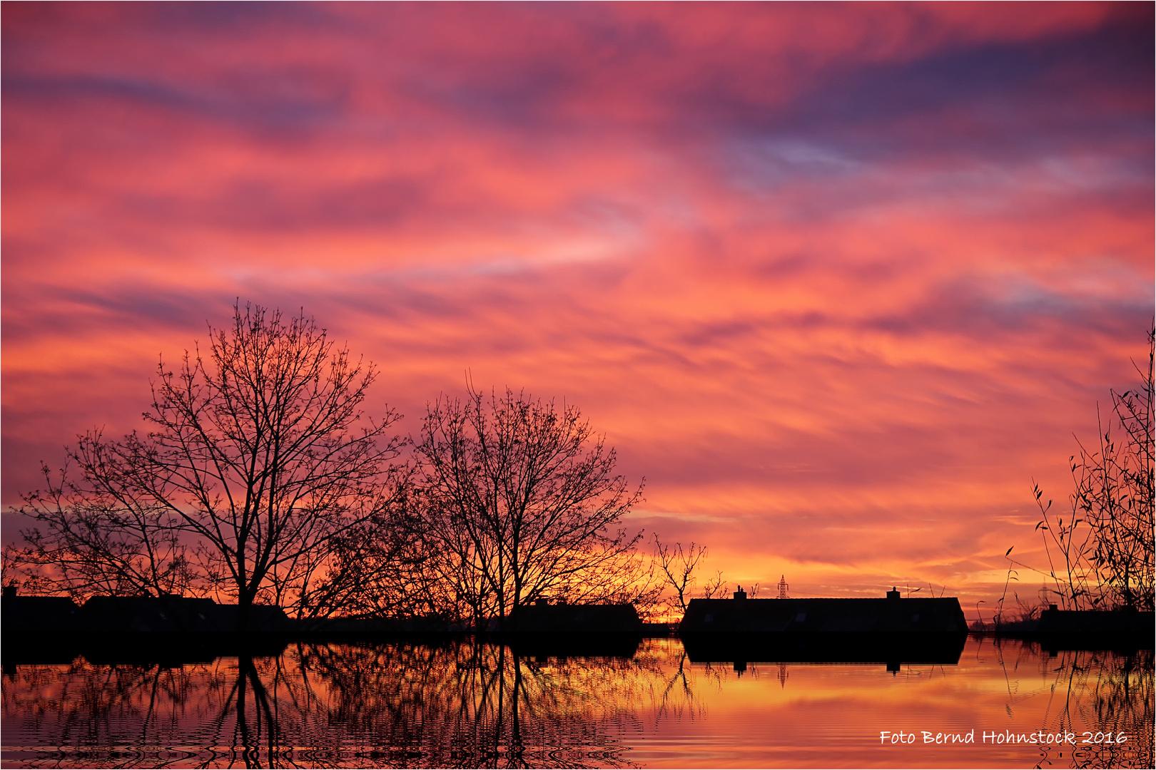 Sonnenaufgang der letzte im Dezember .... Prost Neujahr