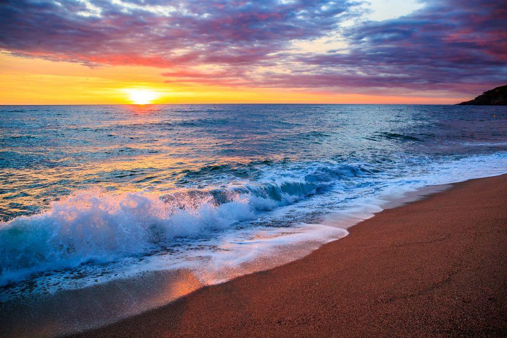 sonnenaufgang foto  bild  landschaft meer  strand