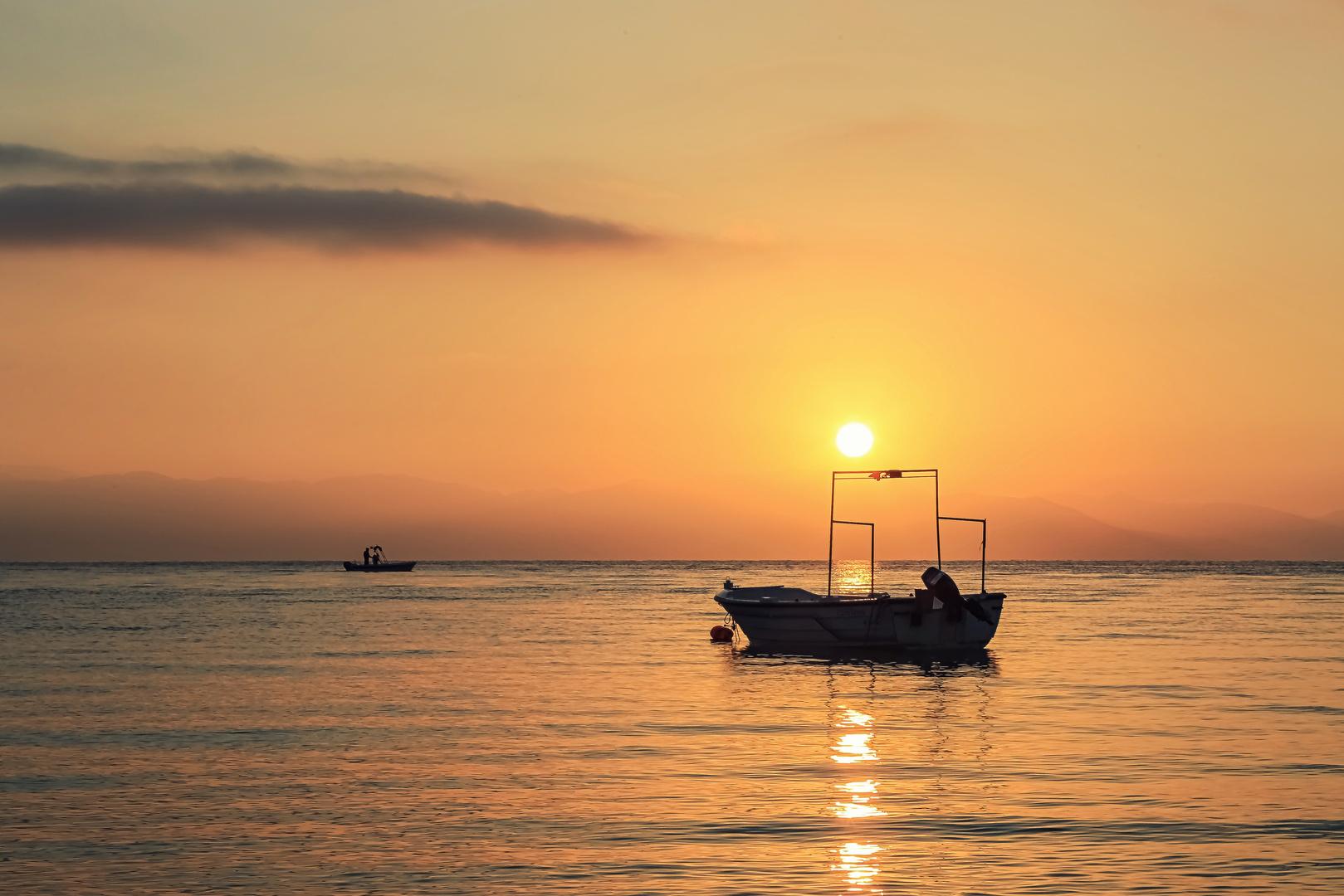 Sonnenaufgang feurig