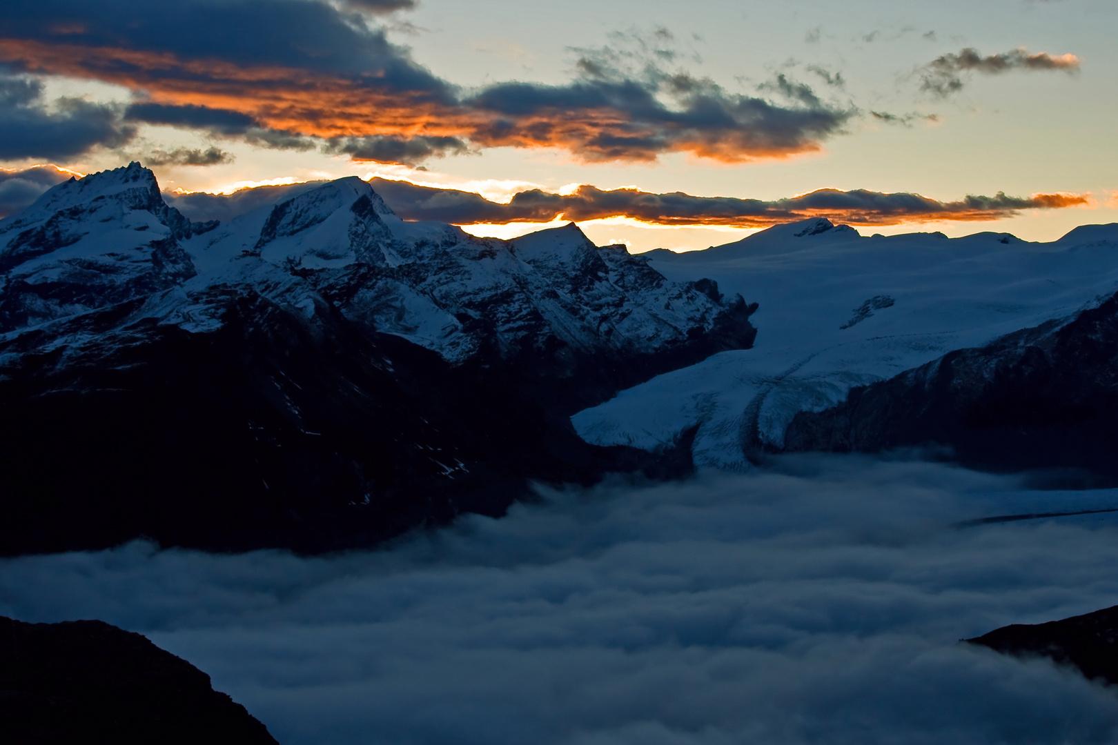 Sonnenaufgang Gandegghütte