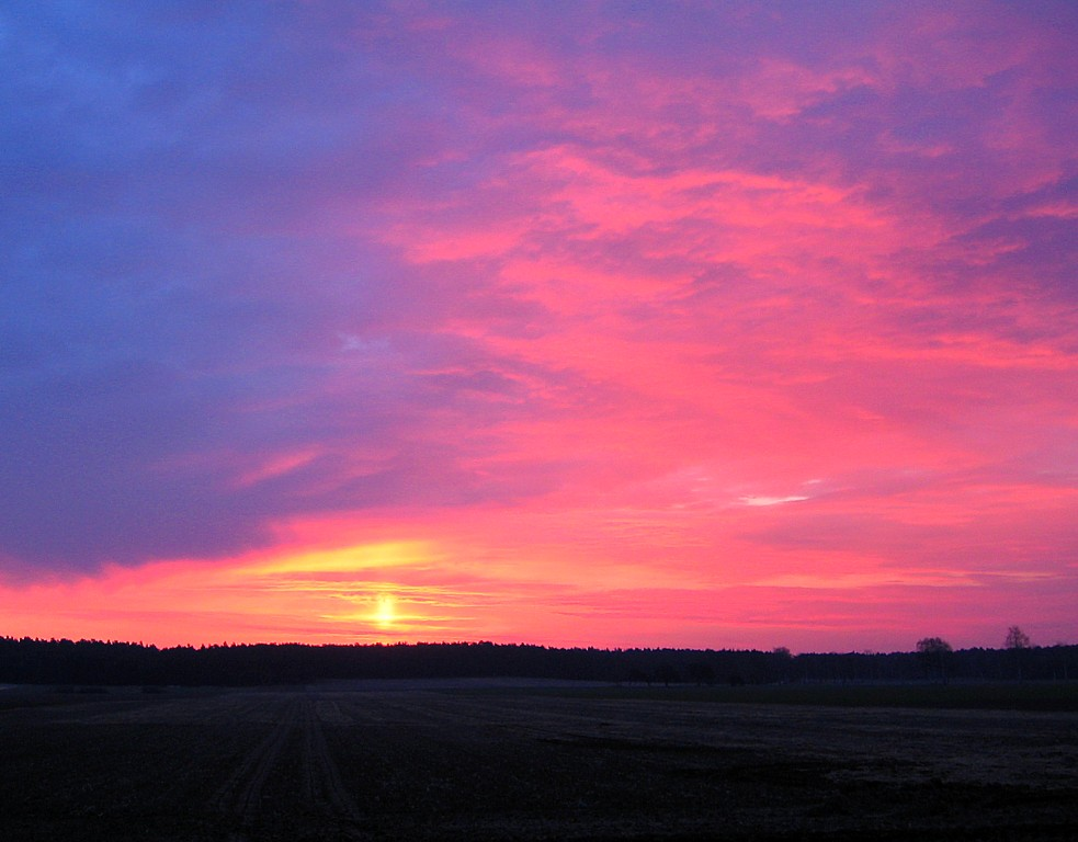 Sonnenaufgang heute am Morgen