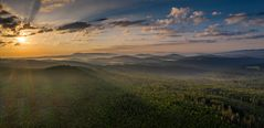 Sonnenaufgang im Bayerischen Wald