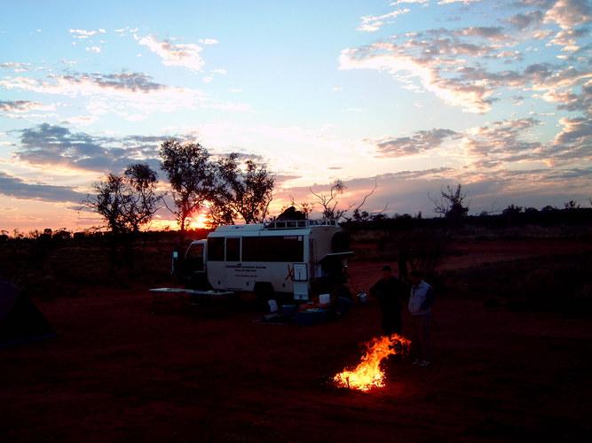 Sonnenaufgang im Bushcamp