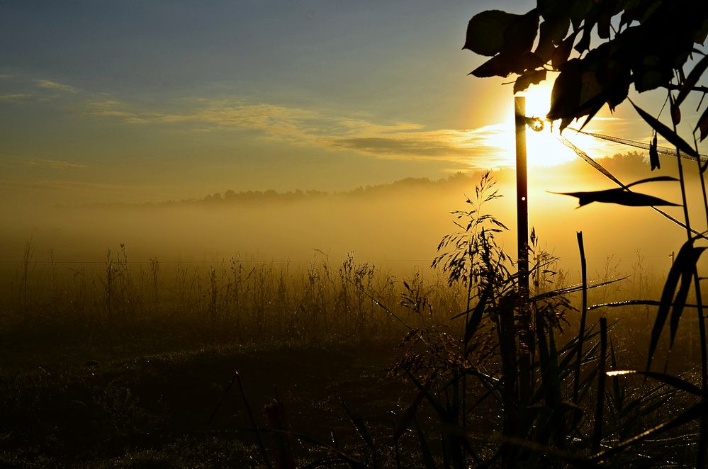 Sonnenaufgang im Herbst...
