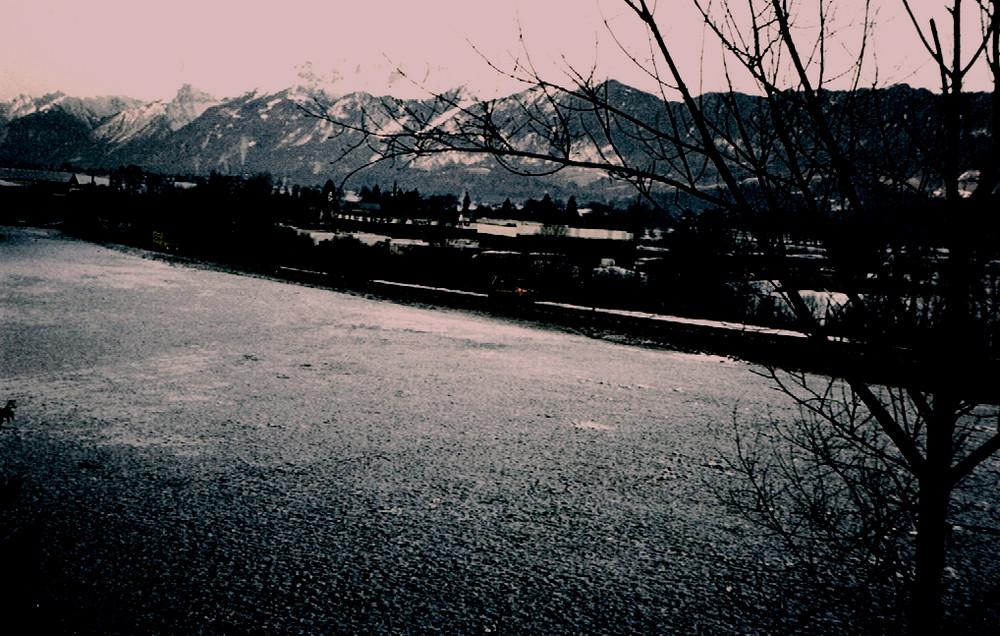 Sonnenaufgang im Inntal bei Wörgl