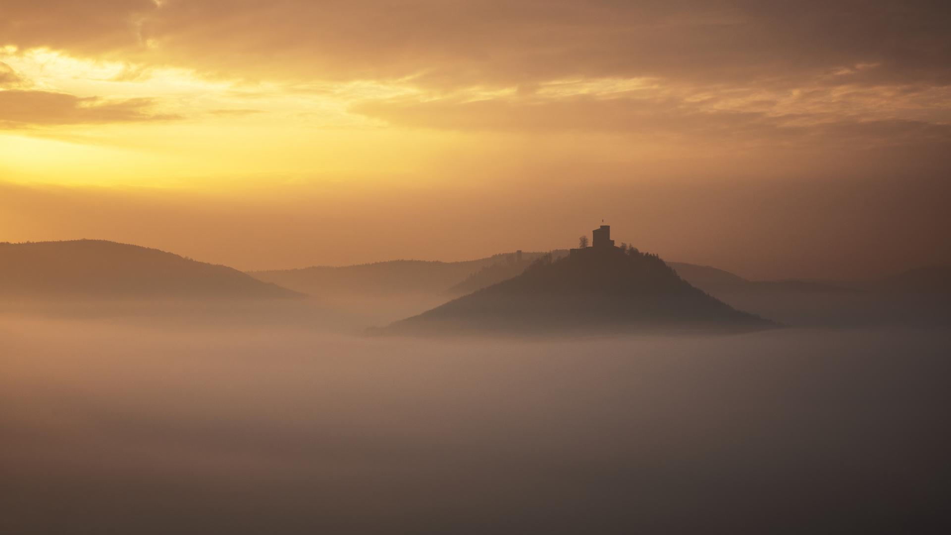 Sonnenaufgang im Nebel...