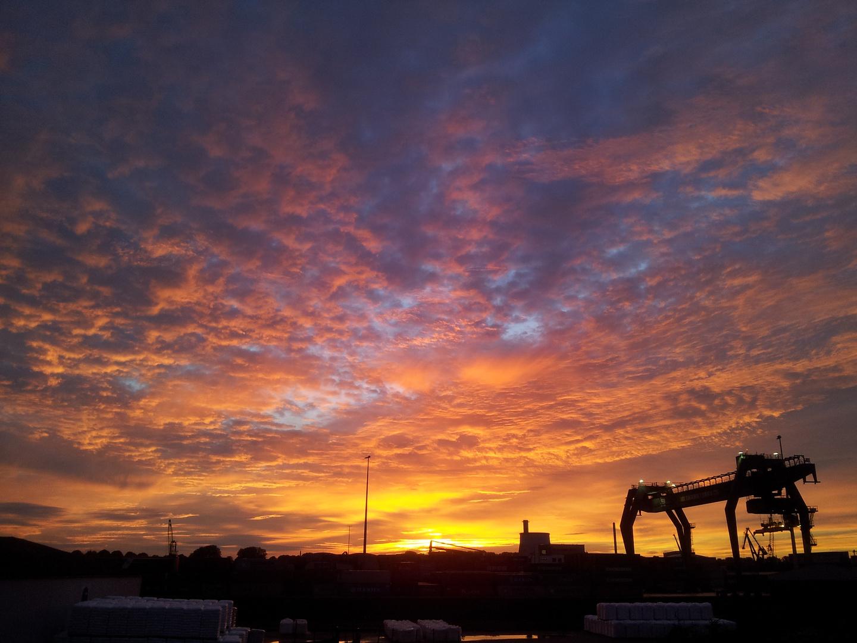 Sonnenaufgang im Niehler Hafen