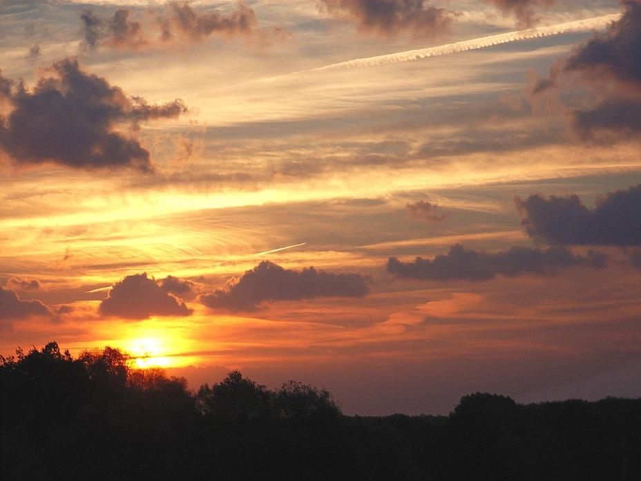 Sonnenaufgang im Oktober