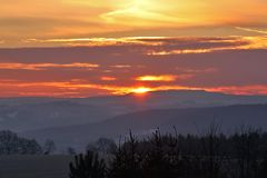 Sonnenaufgang im Osterzgebirge bei Dippoldiswalde