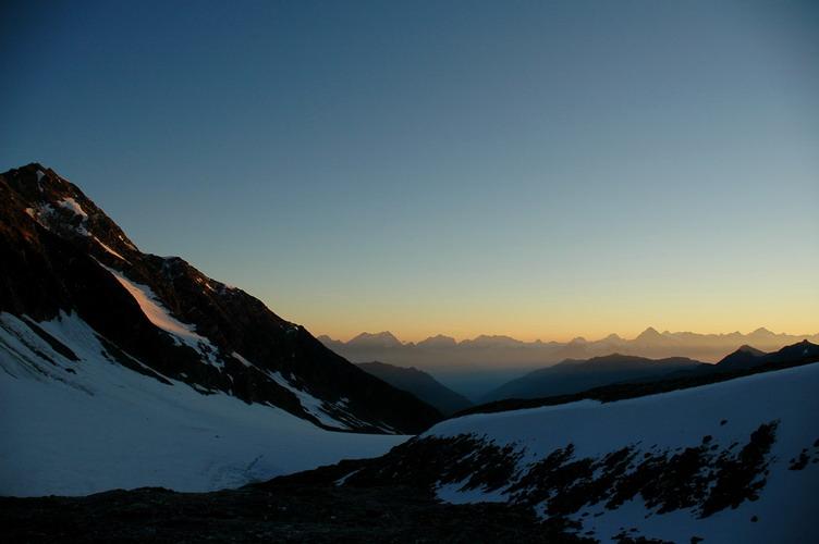 Sonnenaufgang im Wallis