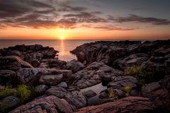 Sonnenaufgang in den den Felsen
