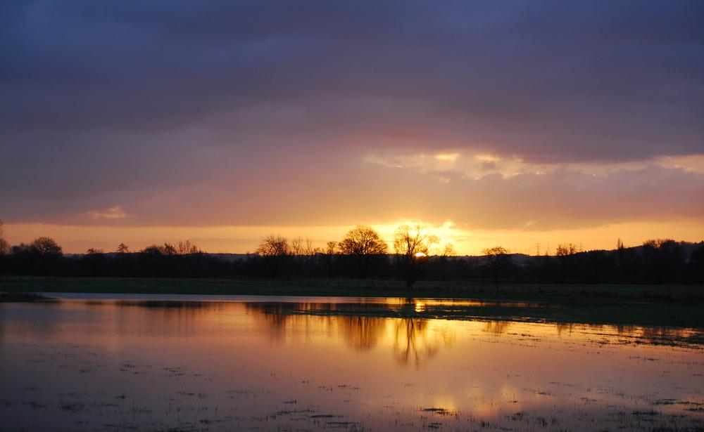 Sonnenaufgang in den Siegniederungen