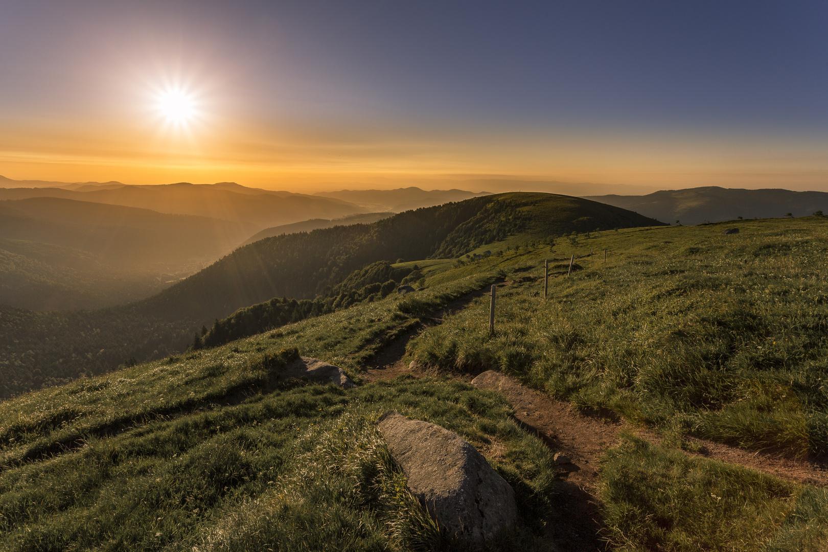Sonnenaufgang in den Vogesen