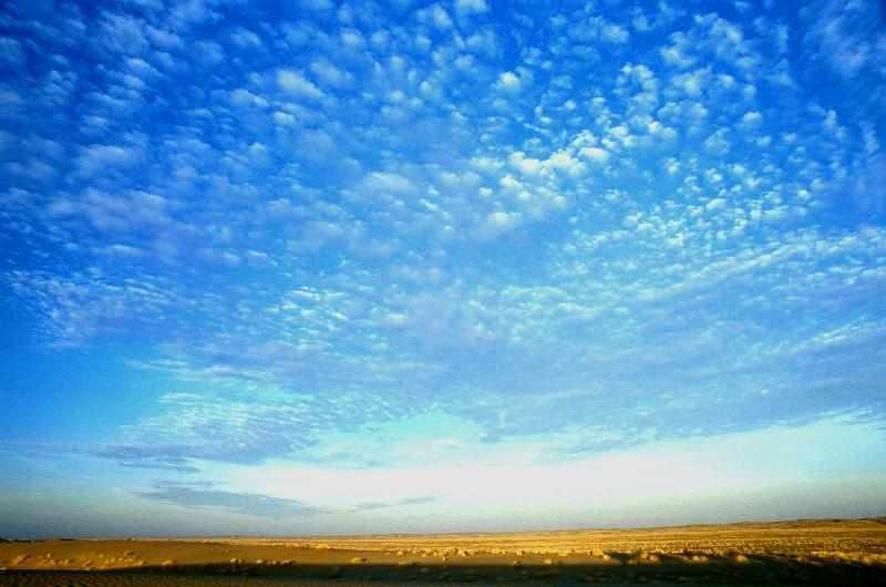 Sonnenaufgang in der arabischen Wüste