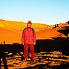 Sonnenaufgang in der Sahara bei Minus 5 Grad...