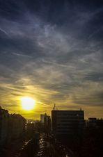 Sonnenaufgang in der Stadt
