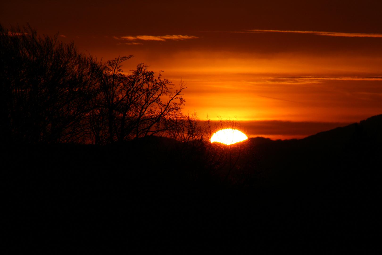 Sonnenaufgang in Hittenkirchen