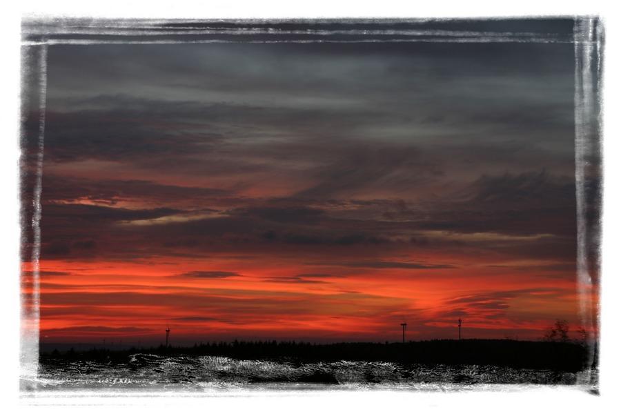 Sonnenaufgang in Lippe