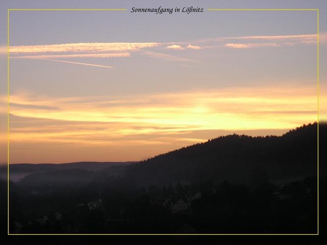 Sonnenaufgang in Lößnitz