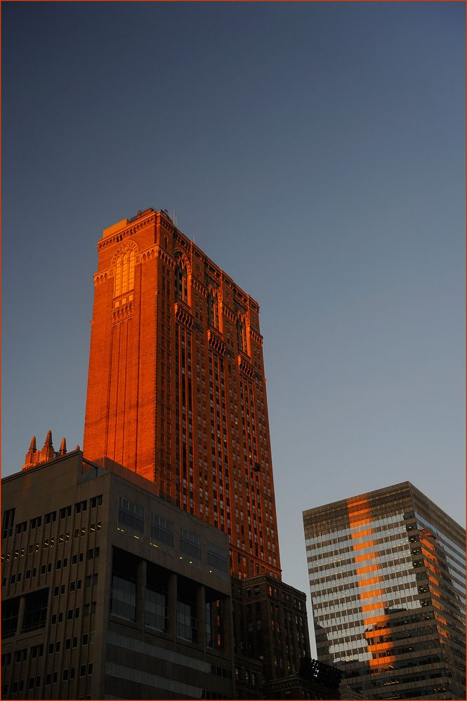 Sonnenaufgang in Midtown-Manhattan