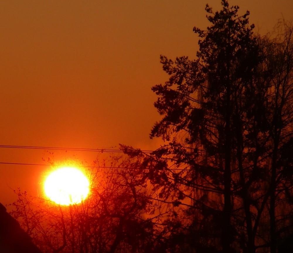 Sonnenaufgang in Öschelbronn