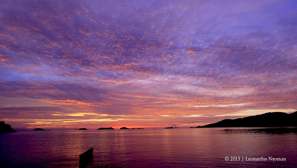 Sonnenaufgang in Riung auf der insel Flores Indonesien