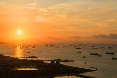 Sonnenaufgang in Singapur
