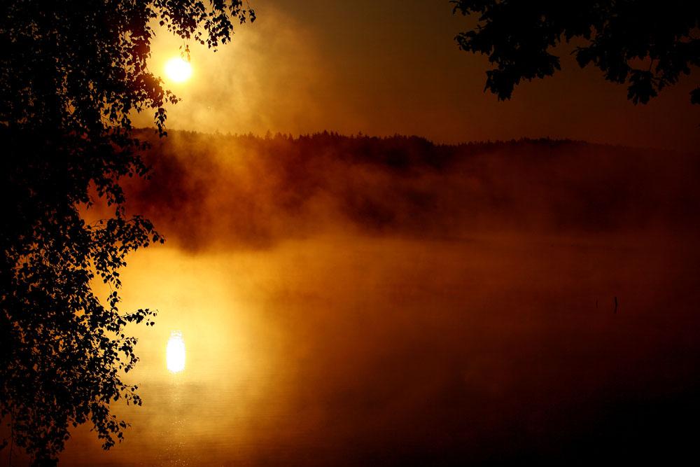 Sonnenaufgang in Tschechien