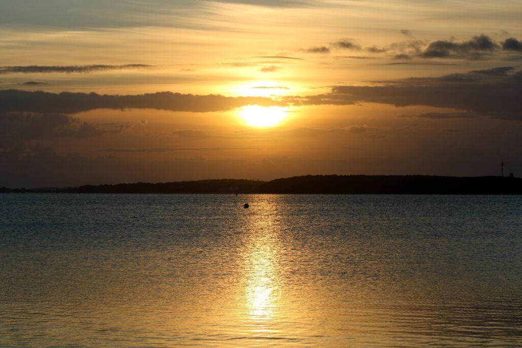 Sonnenaufgang in Wassersleben bei Flensburg 28.08.2010